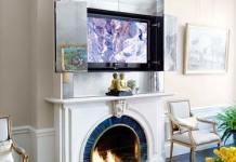 tv over the fireplace ideas 9