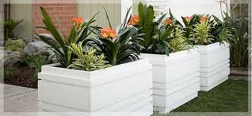 arrange outdoor flower planters