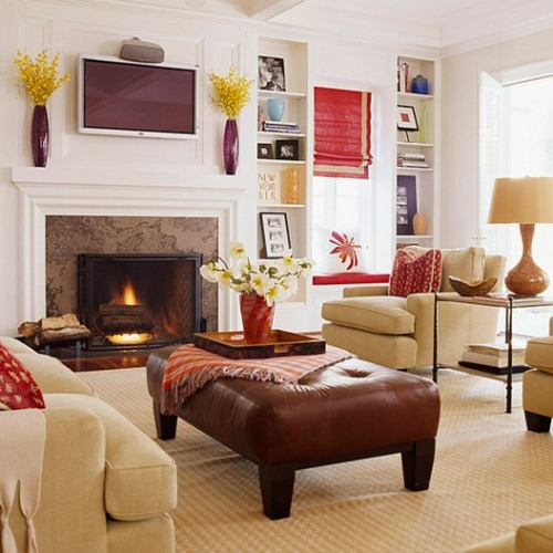 how to arrange living room with tv above fireplace knf delightful escape walkthrough decorate awkward shaped rooms: 5 ideas ...