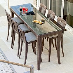 bar height table and chairs outdoor tank chair for sale furniture luxury patio pool modern high end best tables