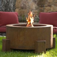 Round Steel Outdoor Fire Pits - HomeInfatuation.com.