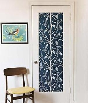 kitchen cupboards ideas sink racks decorate your door panel using stylish patterns - home ...