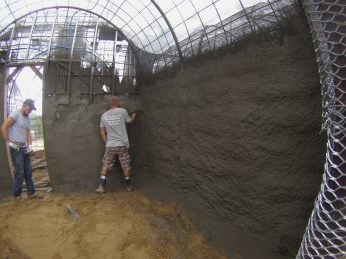 Troweling the walls