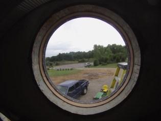 A view thru the Polycarbonate Lexan window
