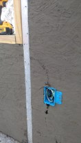 Here you can see a closeup on an electrical outlet. The smurf tube did make a bit of a shotcrete shadow.