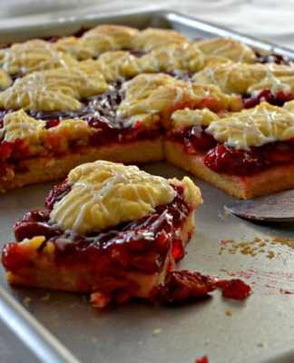 Cherry Almond Kuchen Recipe_Home in the Finger Lakes