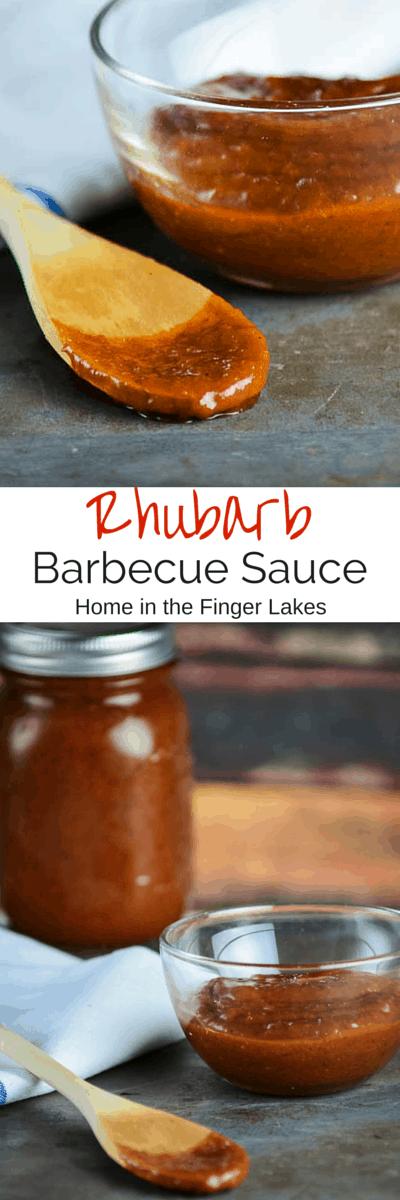 Rhubarb Barbecue Sauce