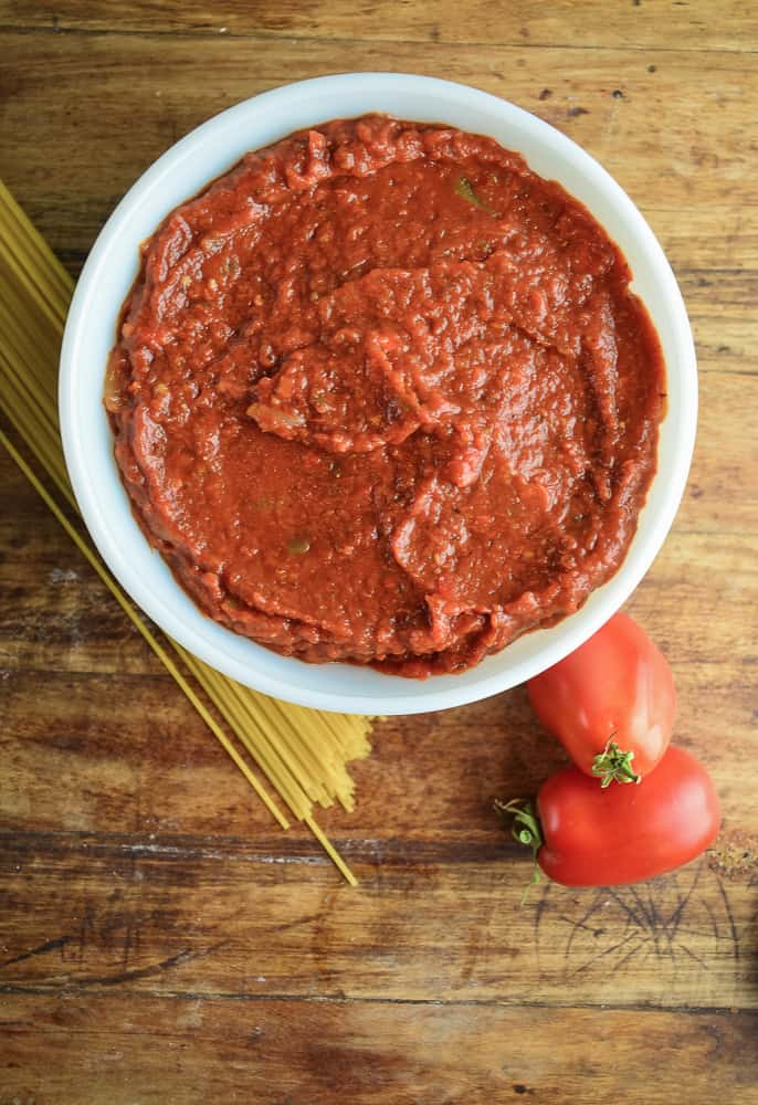 This technique for making Fresh Oven Roasted Tomato Sauce can be totally adapted to suit your tastes and dietary preferences.