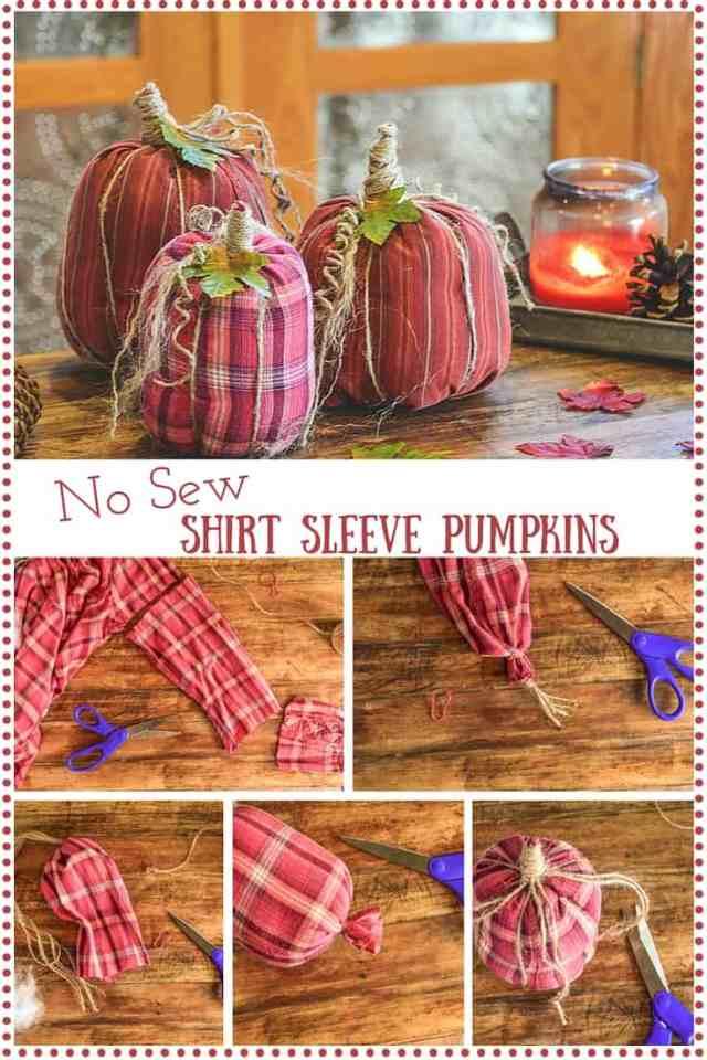 No Sew Shirt Sleeve Pumpkins (1)