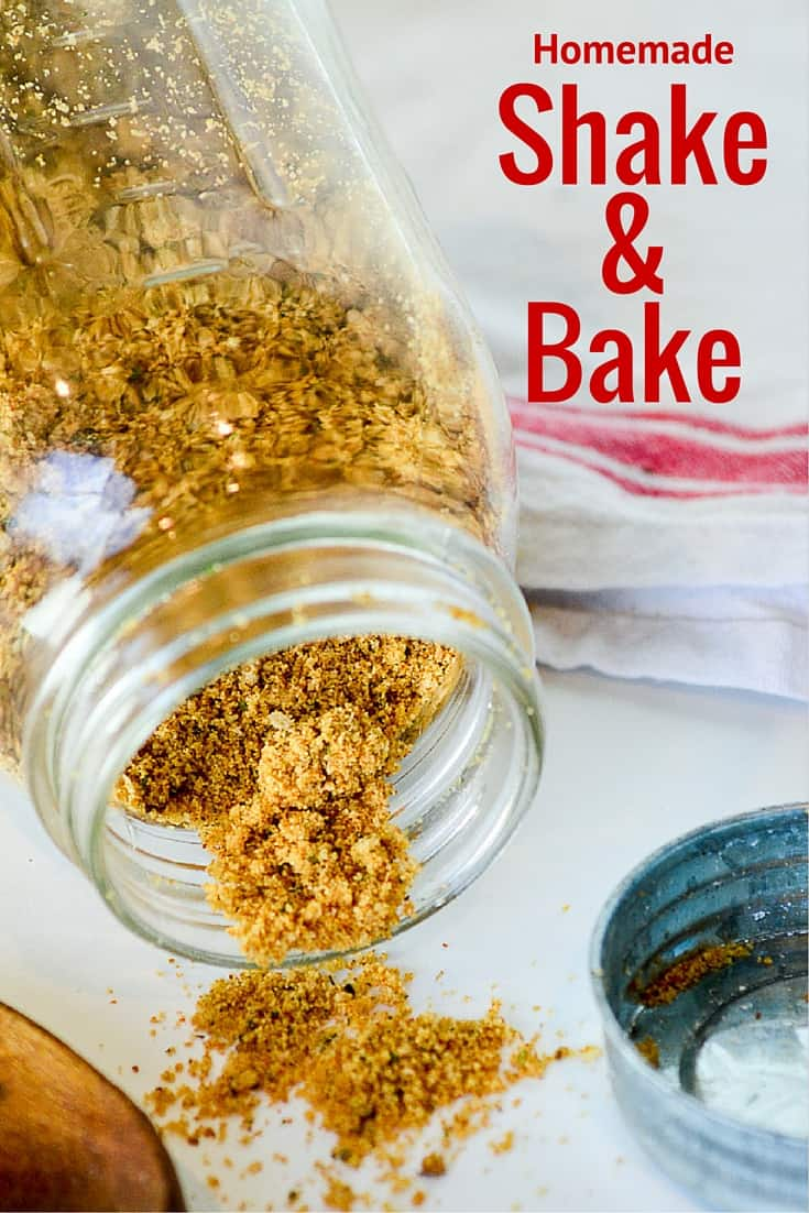 Homemade Shake 'n Bake is easy to make & way cheaper than the boxed stuff. You probably have all the ingredients in your pantry right now.