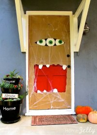 How To Make A Halloween Paper Bag Door Monster : HomeJelly