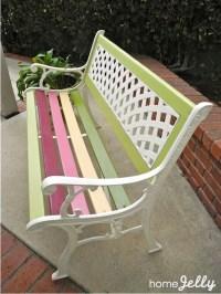 Painted Garden Bench Ideas Photograph | Bench Designs That A