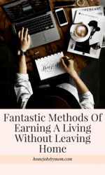 Fantastic Methods Of Earning A Living Without Leaving Home