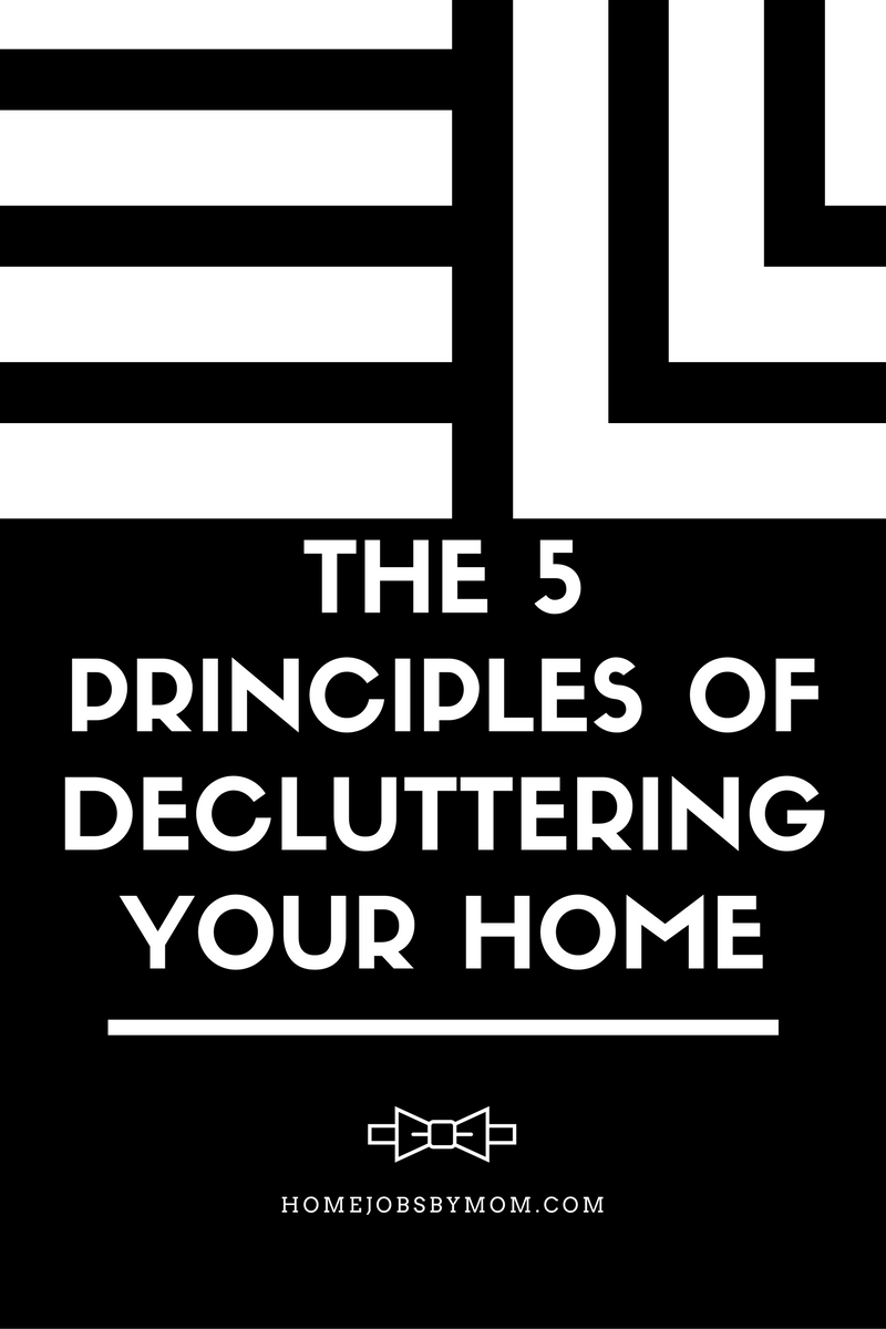 The 5 Principles of Decluttering Your Home