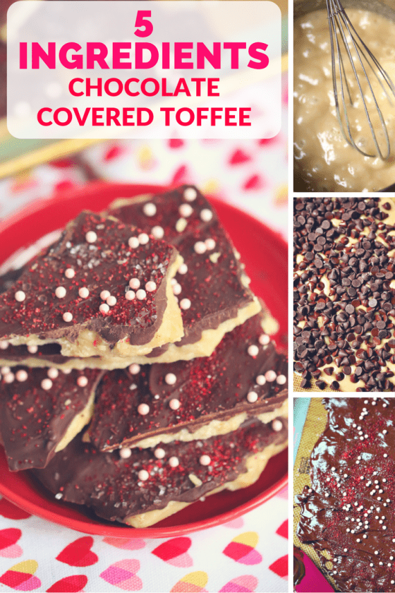 5 Ingredients Chocolate Covered Toffee Recipe