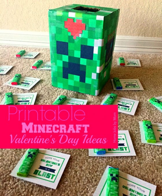 Printable Minecraft Valentine's Day Ideas