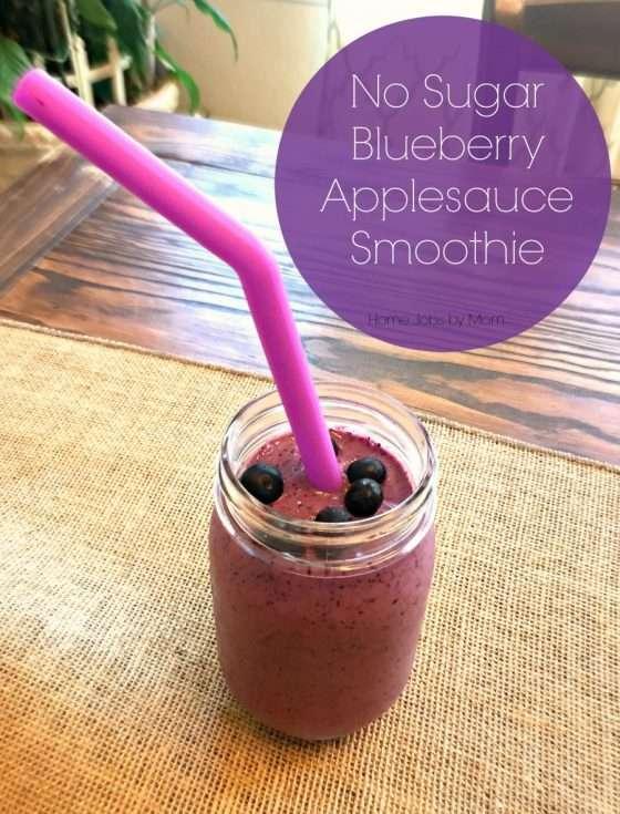 No Sugar Blueberry Applesauce Smoothie