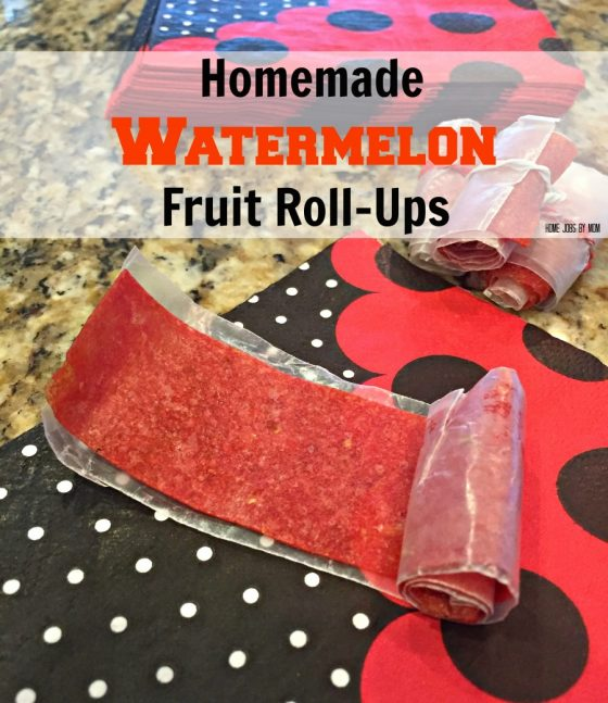 Homemade Watermelon Fruit Roll-Ups