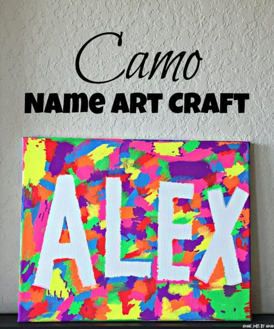 Easy Camo Name Art Craft