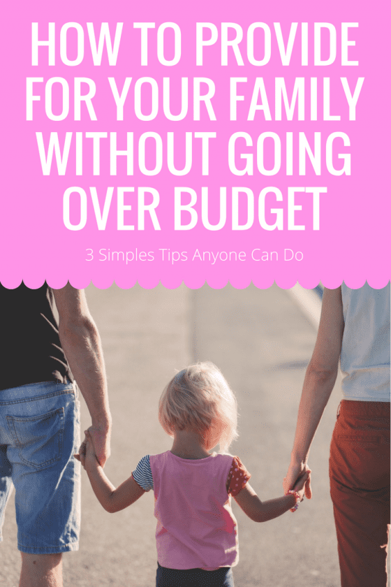 How To Provide for Your Family Without Going Over Budget