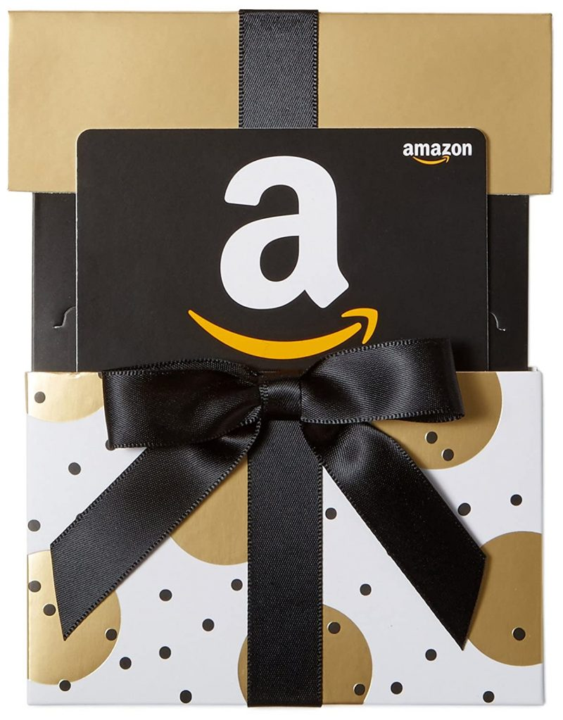 amazon gift card with bow