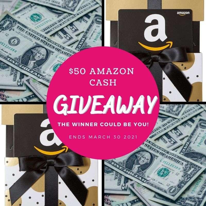 $50 Amazon Cash Giveaway