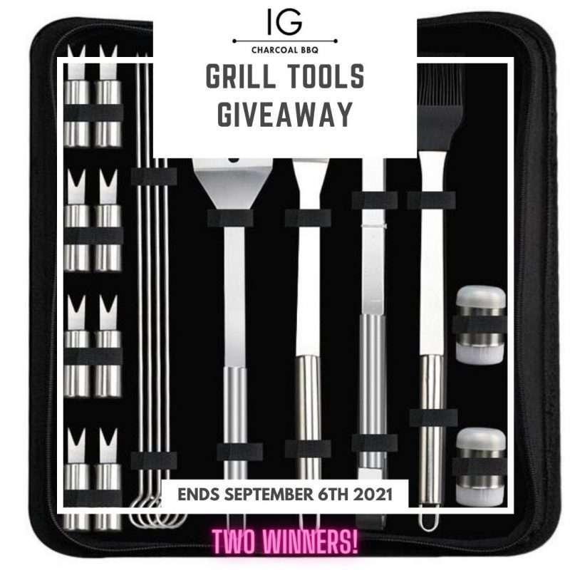 IG Charcoal BBQ Grill Tools Set