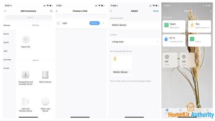 Aqara app and Motion sensor setup