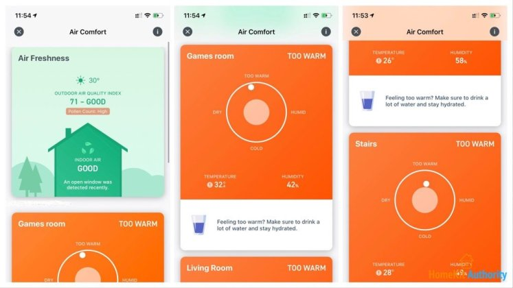 Tado app air quality info