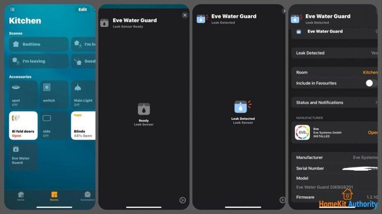 Eve Water guard HomeKit support