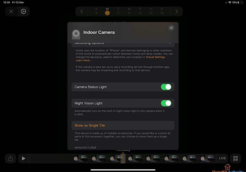 HomeKit Secure Video night vision