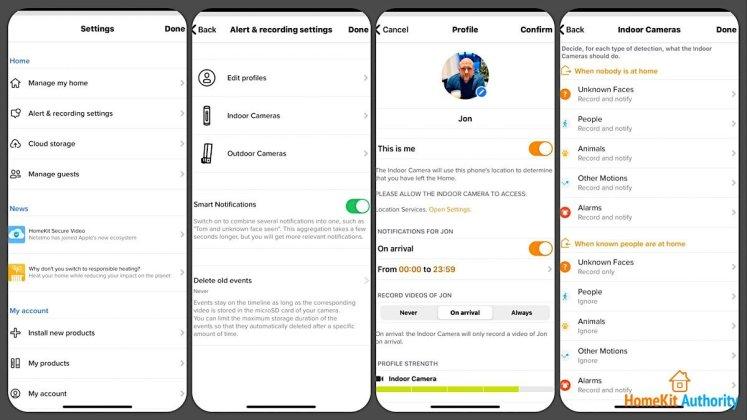 Netatmo security app