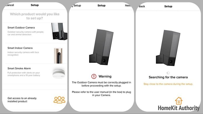 netatmo security app add device