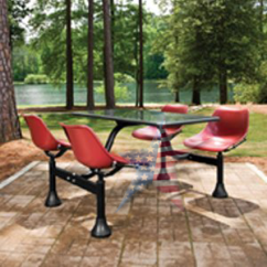Wholesale Folding Chairs Living Room Chaise Lounge Canteen Tables With Colorful Swivel Seats
