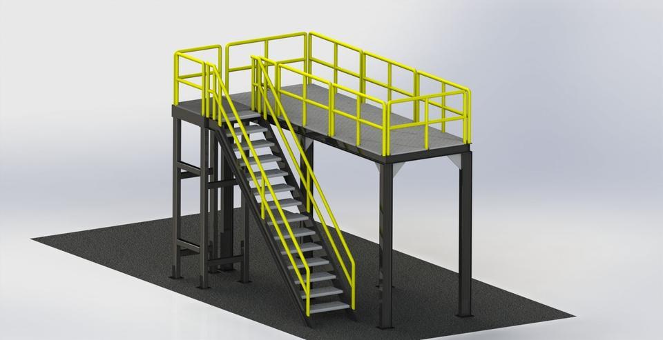 Mezzanine Stairway Ladder Folding Mezzanine Ladders