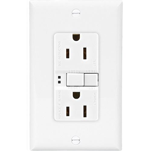 Eaton Wiring 15 Amp Duplex GFCI NAFTA-Compliant Receptacle