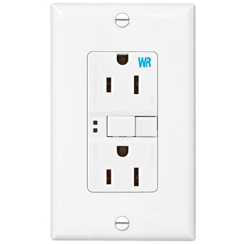 Eaton 15 Amp Weather Resistant GFCI Receptacle Outlet