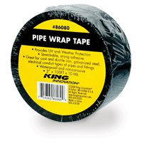 King Innovation 100-ft Pipe Wrap Tape, Black (86080 ...