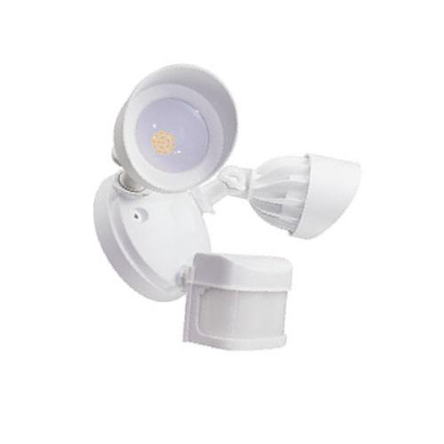 american lighting 24w led security light w motion sensor double 1900 lm 100v 240v 3000k white al2 2pir wh