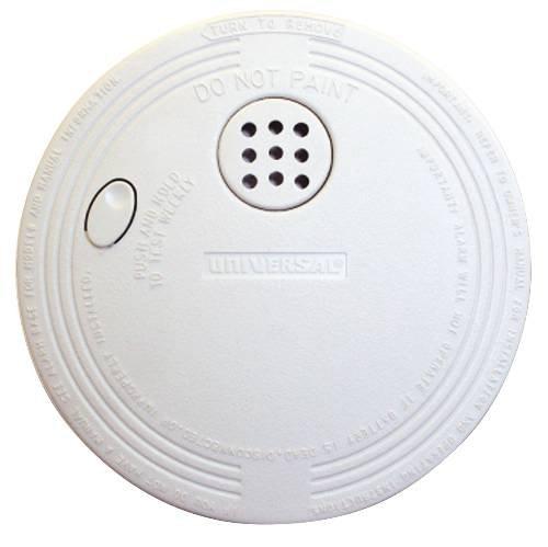 USI Electric Ionization Smoke & Fire Alarm, 9V Battery