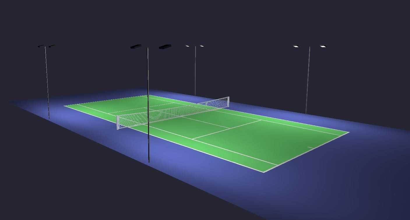 measurement of tennis court with diagram rheem ac unit wiring lighting standards from recreational to professional outdoor 3d