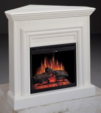 Amherst Corner White Electric Fireplace 23 inch-Classic ...