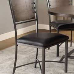 Rustic Metal Dining Chairs Occasional With Arms Homelegance Fideo Round Set Gray
