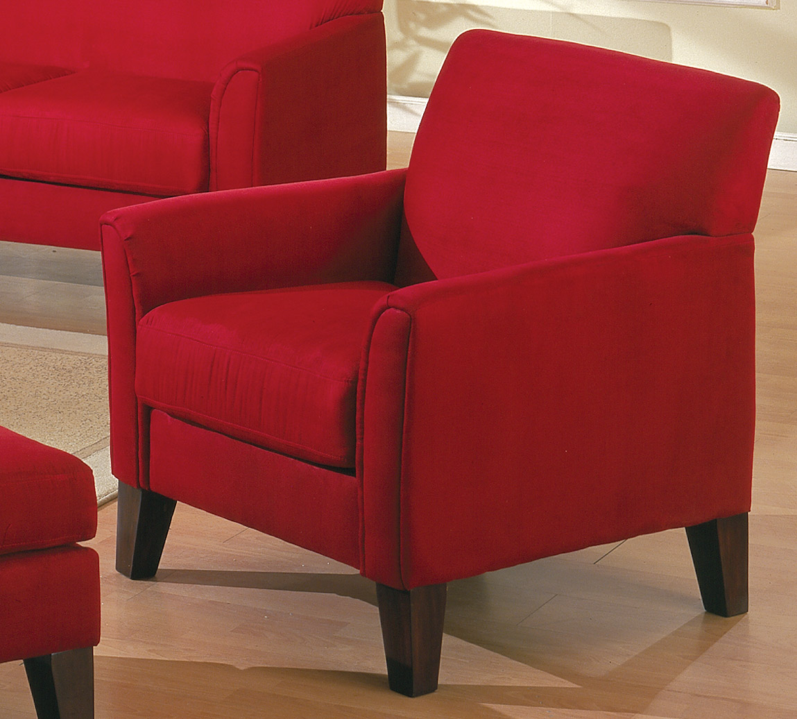 quality sofas for less manstad sofa bed cover homelegance petite chair red 9913rd 1 at homelement