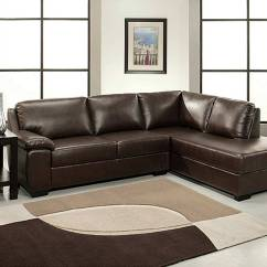 66 Inch Wide Sofa Sleeper For Cheap Abbyson Living Pearce Dark Brown Bonded Leather Sectional