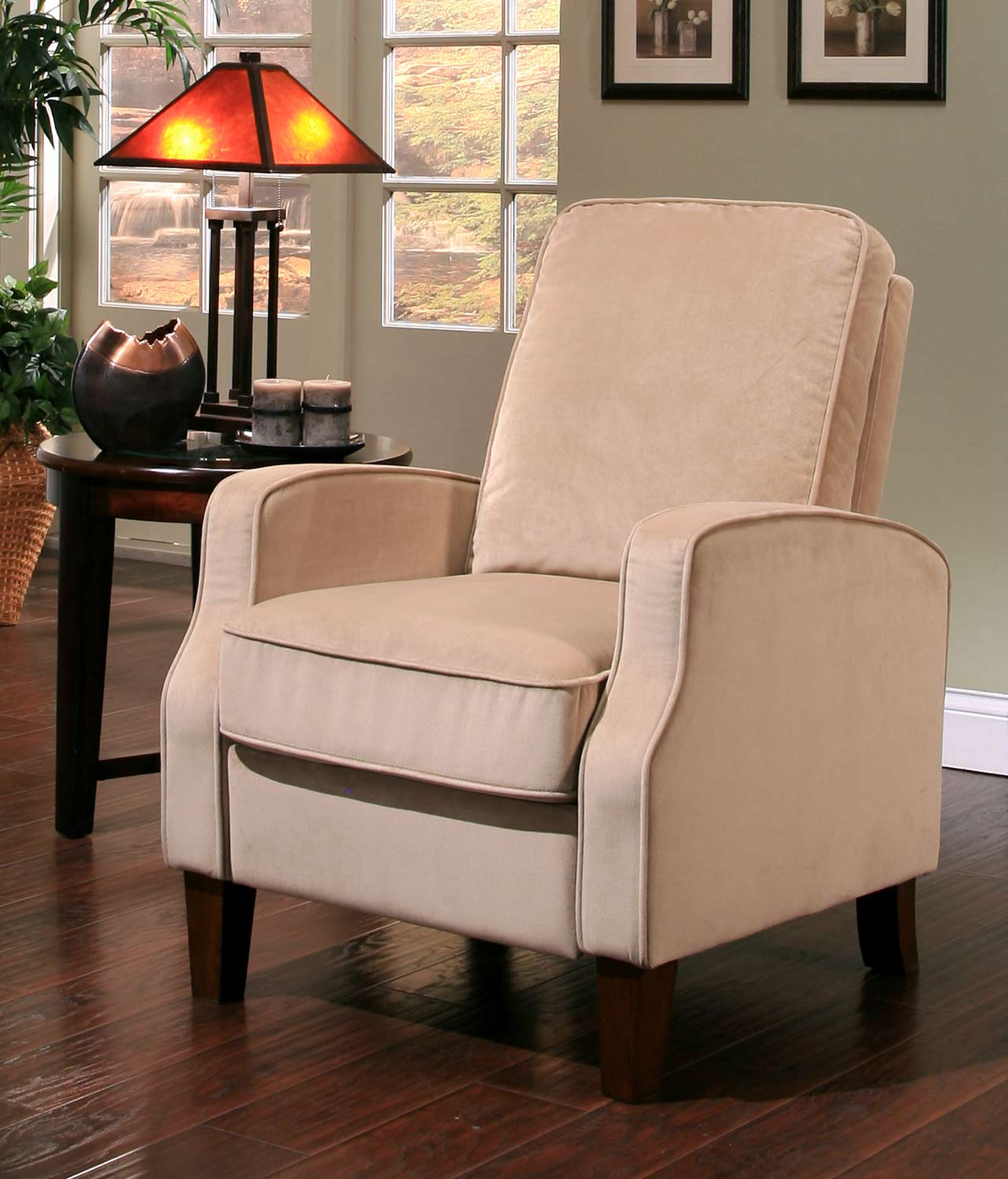 abbyson living thatcher fabric rocking chair in beige dining room covers for moving carmen microsuede pushback recliner