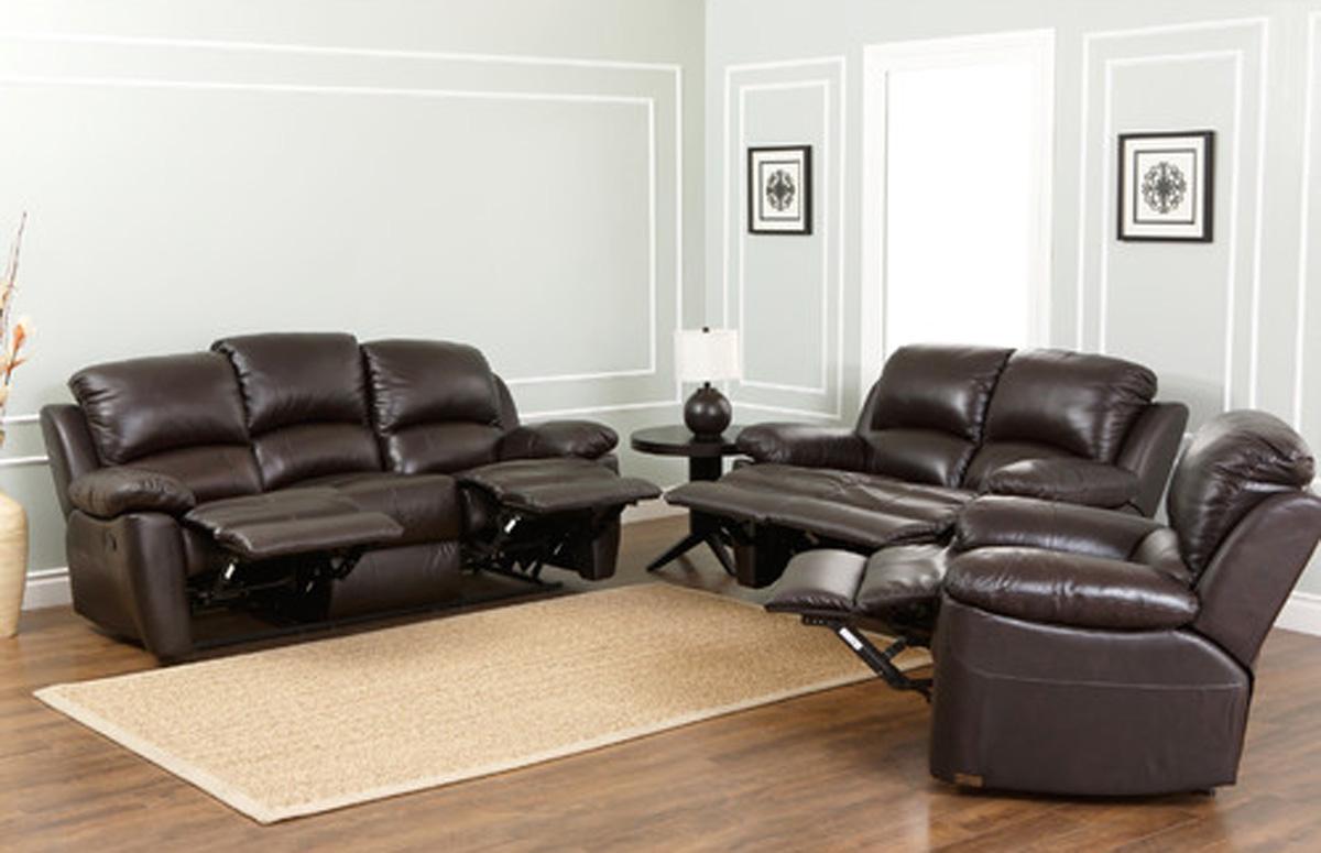 abbyson living bradford faux leather reclining sofa dark brown ashley chaise reviews recliner 3 2 home the honoroak