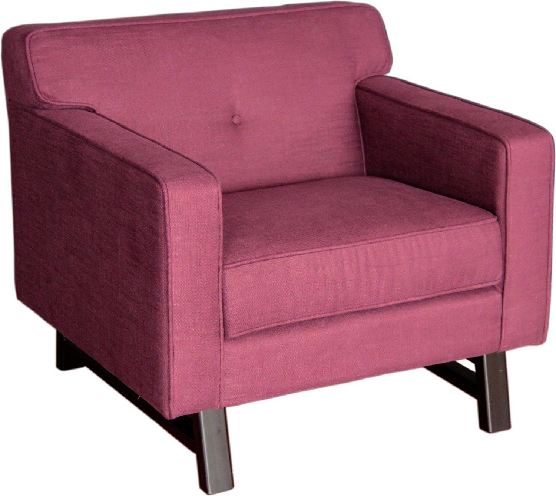purple accent chair desk without wheels or arms armen living halston arm claret fabric al