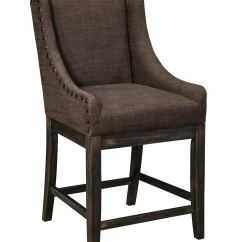 Upholstered Counter Chairs Table Chair Covers Wedding Ashley Moriann Stool D608 424