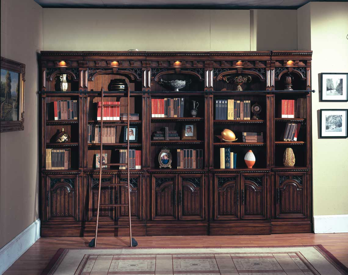 chair with built in bookshelf lift chairs walmart parker house barcelona library bookcases ph bar420 430 6